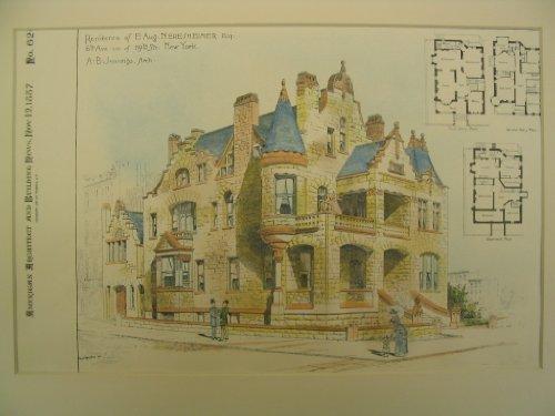 Residence of E. Aug. Neresheimer, 6th Ave Corner of 119th St, New York, - Ave 6th New York