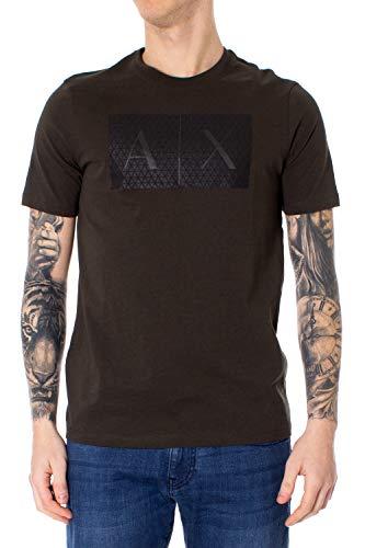 Armani Exchange T-Shirt Man t-Shirt Color 8nztck z8h4z XL Olive Green - Mens T-shirts Green Armani