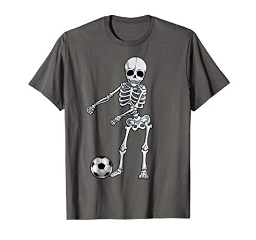 Floss Dance Skeleton T shirt Soccer Ball Boys Men Flossing ()