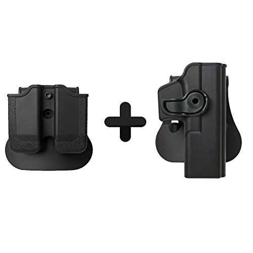IMI Defense Glock 17 / 22 / 28 / 31 Tactical Combo Concealed Roto Holster + Double Mag Magazine Pouch Kit 1