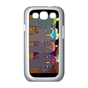 Samsung Galaxy S3 9300 Cell Phone Case White Disney Dumbo Character Catty the Elephant NCM Design 3D Phone Case