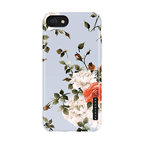 (iPhone 8 & iPhone 7 Case Floral, Akna Sili-Tastic Series High Impact Silicon Cover with Full HD+ Graphics for iPhone 8 & iPhone 7 (776-U.S))