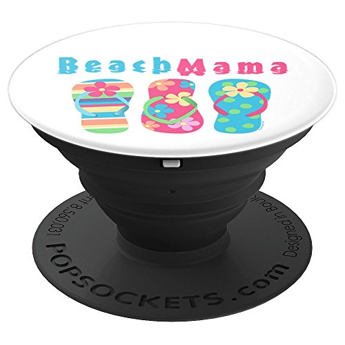 Summer Beach Mama Flip Flops Vacation Gift - PopSockets Grip and Stand for Phones and Tablets -