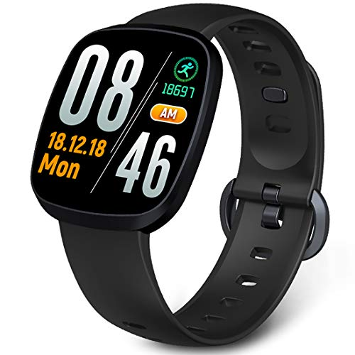 Smart Watch, Vogue Thin and Light Fitness Tracker, Blood Pressure/Heart Rate/Sleep Monitor Sport Wristband for Men, Women and Kids, ()