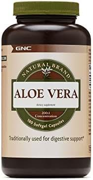 GNC Natural Brand Aloe Vera SoftGel Capsules