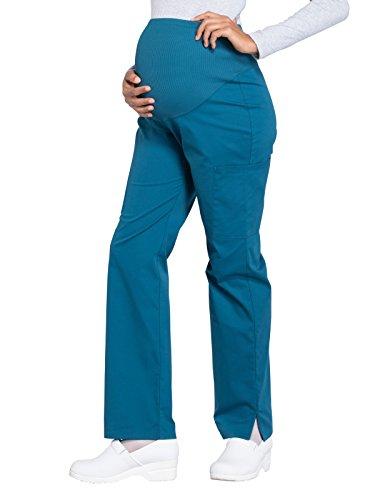 Cherokee WW Professionals WW220 Maternity Straight Leg Pant Caribbean Blue M Petite ()
