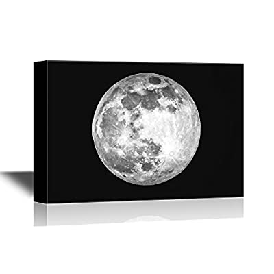 Pretty Portrait, Quality Creation, Giant Moon Over The Sky in Black and White