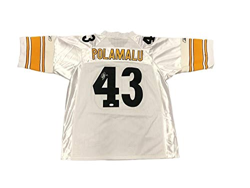 Troy Polamalu Signed Jersey - Troy Polamalu Pittsburgh Steelers Away White Autographed Signed Jersey Memorabilia - JSA Authentic
