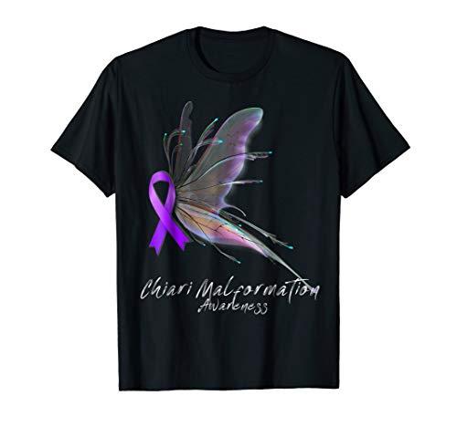 CHIARI MALFORMATION Awareness Shirt - butterfly T-Shirt