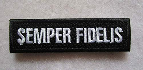 Semper Fidelis 3D Tactical Military Badges Embroidered Patch Back with Loops and Hook (color2)