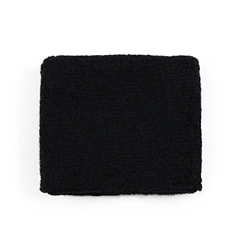 Black Blank Rear Brake or Clutch Reservoir Cover by Reservoir Socks for Motorcycles, Sportbikes