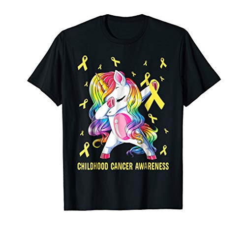 childhood cancer awareness t shirt-dabbing unicorn warrior