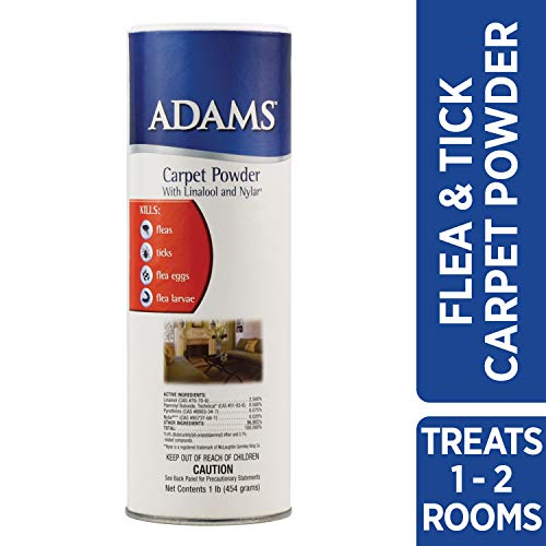Adams Flea & Tick Carpet Powder, 16 Ounce (Bio Flea And Tick Spot On Reviews)