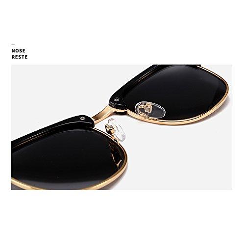 amp; clair femmes soleil lunettes hommes de Noir demi Semi Wayfarer Noir soleil Rimless Natwve monture polarisée rétro Classique de Noir Clair lunettes Noir Co dq7WZTH