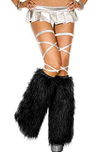 Music Legs Faux fur leg warmers]()