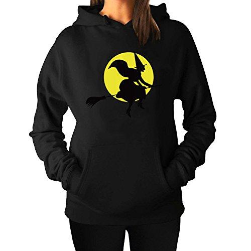 Halloween women Long Sleeve Hoody Sweatshirts S Black