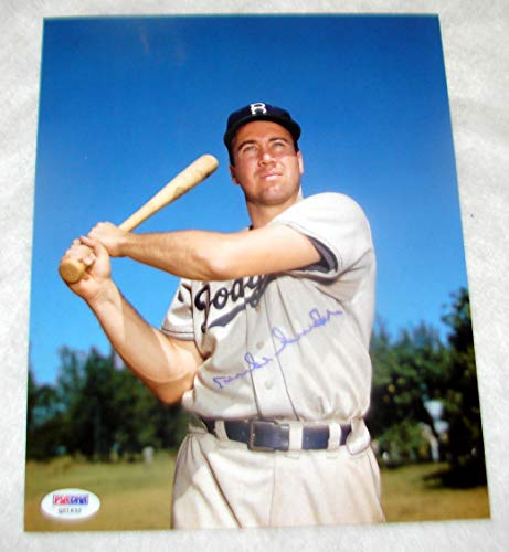 Brooklyn Dodgers Autographed Signed Duke Snider Autograph 8x10 Photograph Baseball Auto Print PSA/DNA