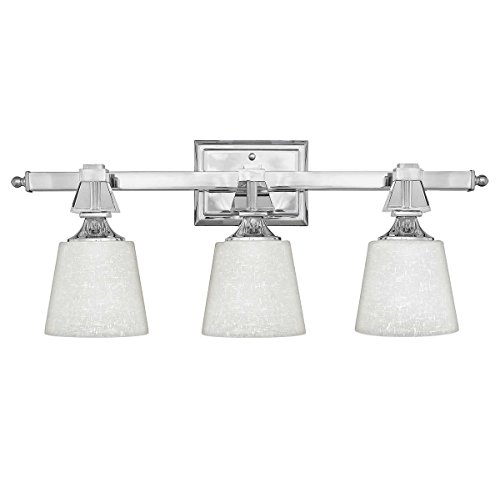 Quoizel DX8603C, Deluxe Glass Wall Sconce Lighting with Shades, 3LT, 225 Total Watts, (Martini Wall Fixture)