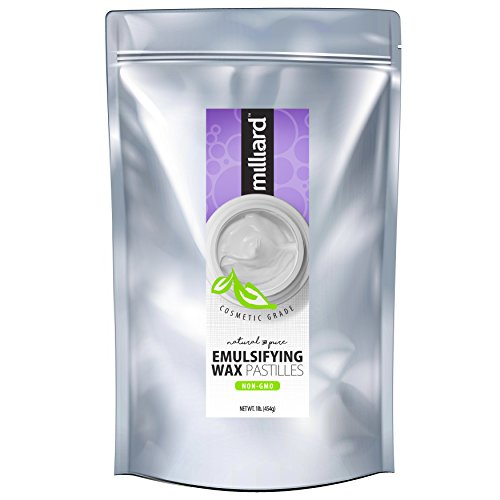 Milliard NON-GMO Emulsifying Wax Pastilles NF –16 OZ. Resealable Freshness Storage Bag