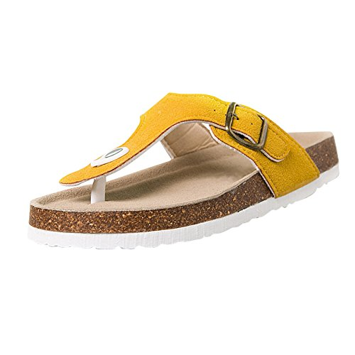Buckle Sandals 002 Couple Slip Mens with Womens unisex Beach Summer Flipflops Flat fereshte Camel Unisex on Thong 4O8qAUxq1w