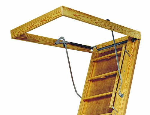 Amazon.com: Louisville Ladder L305P Big Boy Attic Ladder 30 Inch By 60 Inch  350 Pound Capacity Fits 10 Foot Ceiling Height: Home Improvement