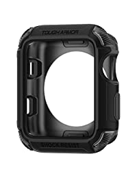 Apple Watch Series 3 / Series 2 Case 42mm, Apple Watch Case, Spigen Tough Armor [2nd Generation] Extreme Heavy Duty Protection for 42mm Apple Watch Series 3 / 2 / Nike+ Sport Edition - Matte Black