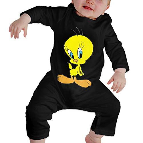 - Tweety Bird Baby Jumpsuit Newborn Baby Infant Bodysuit Long Sleeve Crawler Black