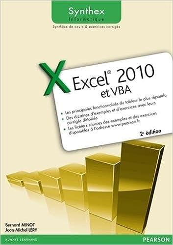 En ligne téléchargement Excel 2010 et VBA Synthex epub, pdf