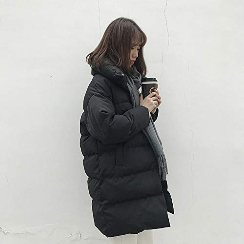 Coreana Servicio Largo Invierno Mujeres Para Suelto Negro De Pan Moda Largo Versión Abrigo Algodón Xwh CxnwS5x