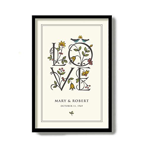 Arvier Love Birds 50th for Parents Flower Bouquet Golden Wedding Anniversary Mindfulness Gift Couples Gift (Parent Birds)