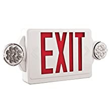 Lithonia Lighting LHQM LED R HO M6 Quantum 2-Light LED Polycarbonate Emergency Exit Sign / Fixture Unit Combo by Lithonia Lighting