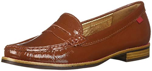 MARC JOSEPH NEW YORK Women's East Village Loafer, Walnut Tumbled Patent, 5.5 B(M) US