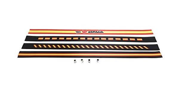 Pulseras de tela con la bandera ESPAÑOLA en pack de 4 unidades. Negro | Pulsera con la BANDERA DE ESPAÑA | Regalo original: Amazon.es: Hogar
