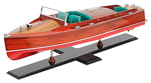 (Old Modern Handicrafts Handicrafts Painted Chris Craft Runabout Collectible)