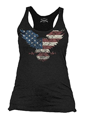 Grunt Style Freedom Eagle Women's Racerback, Size (Style Womens Tank Top)