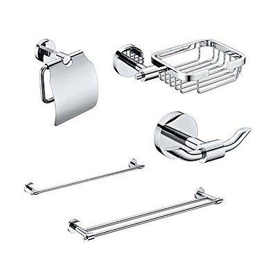BBSLT- 5 paniers Accessoires cuivres Ensemble de bain - simple et double serviette Titulaire Bar - papier - Soap Basket -