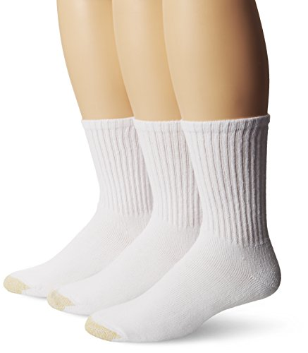 Gold Toe Men's Ultra Tec Short Crew 3 Pack Socks, White, Sock Size: 10-13/Shoe (Tec Socks)