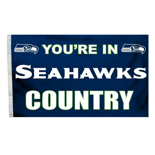 Fanmats Seattle Seahawks 3 Ft X 6 Ft Football Field: Seahawks Home Furnishings, Seattle Seahawks Home