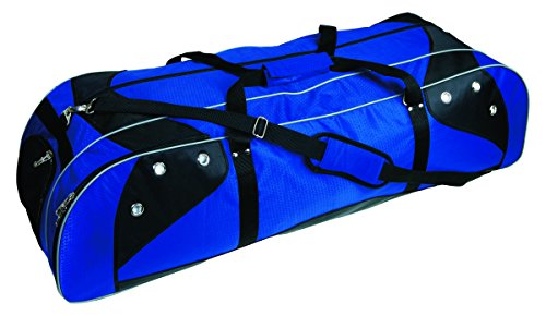 Martin Sports Deluxe Lacrosse Player's Bag Size Holds Two Sticks Color Royal on Black, 42' L X 13' W X 12' H