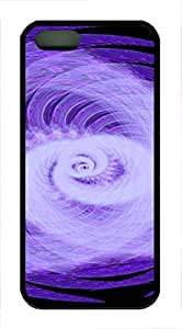 iPhone 5 5S Case Abstract Rotating Light TPU Custom iPhone 5 5S Case Cover Black