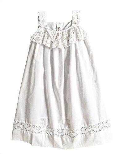 Strasburg Children Girls Beach Dress Lace Summer Beach Dress White (10) (Crocheted Girls Dress)
