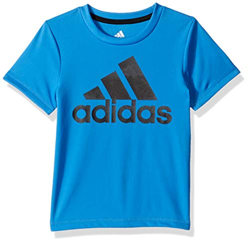 adidas Boys' Toddler Stay Dry Climalite Short Sleeve T-Shirt, Fusion True Blue, 2T