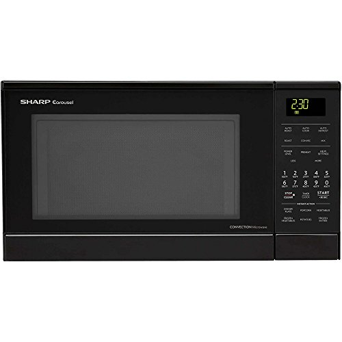 Sharp R830BK 900 Watts Convection Microwave Oven, 0.9 cu.ft, Black (Small Convection Microwave Oven compare prices)