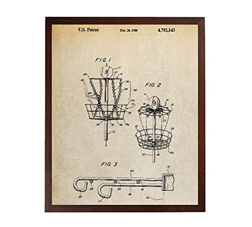 Turnip Designs Frisbee Patent Prints Disc Golf Basket Frisbee Golf Blueprint Art Poster Frisbee Wall Art TDP1021