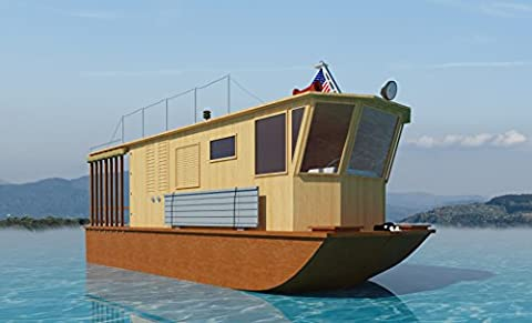 21' houseboat plans (DIY Plans) Fun to build!! (House Plans In Autocad)