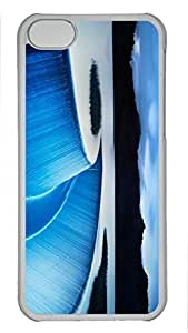 Custom design PC Transparent Case Cover For iPhone 5C DIY Durable Shell Skin For iPhone 5C with Water Art