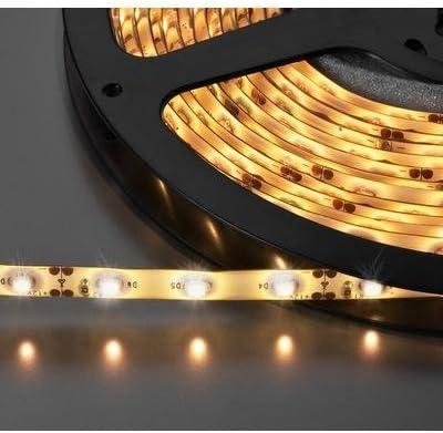TIRA DE LEDS FLEXIBLE BLANCO CALIDO, 12V IP65 MONACOR LEDS-5MPE ...