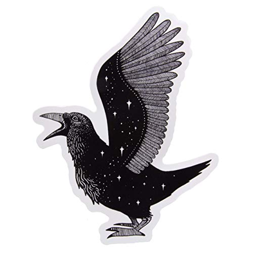 Edgar Allen Poe Raven Vinyl Sticker Waterproof Goth