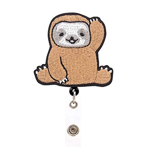 Funny Halloween Cartoon Clips (YOROYAL Cute Sloth Badge Reel, Alligator Clip Retractable Badge Holder, ID Badge Clip for Women)