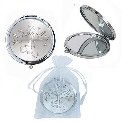 Compact Mirror Wedding Favor (12PCS) Boda Recuerdos Dove Design/Gift for Guest/Purse Mirror